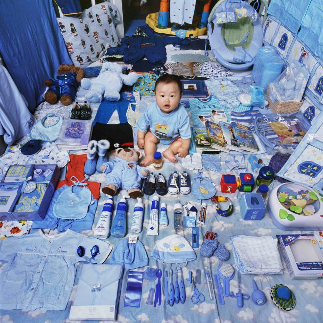 The Blue Project, Jake and his Blue Things, NY USA, Light jet Print, 2006, © Jeon Mee Yoon