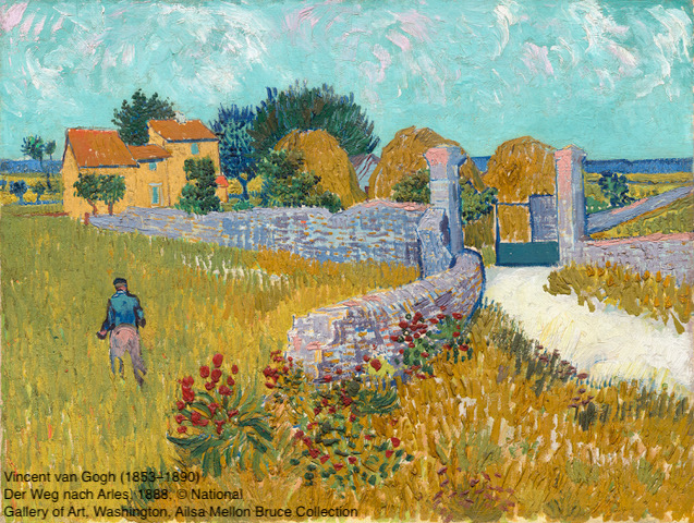 Vincent van Gogh (1853–1890) Der Weg nach Arles, 1888 Öl auf Leinwand, 46,1 x 60,9 cm National Gallery of Art, Washington D.C. © National Gallery of Art, Washington, Ailsa Mellon Bruce Collection